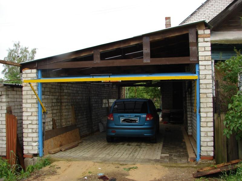 Мой гараж подъемно поворотные ворота своими руками