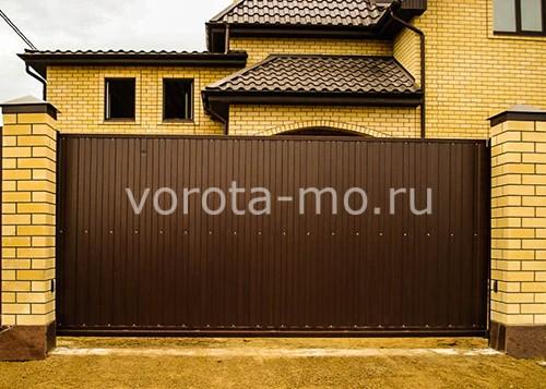 купить откатные ворота в москве с электроприводом калиткой